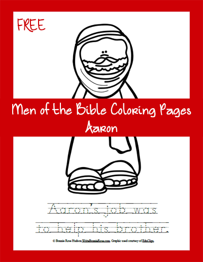 Free Men of the Bible Coloring Page-Aaron
