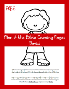 Free Men of the Bible Coloring Page-David
