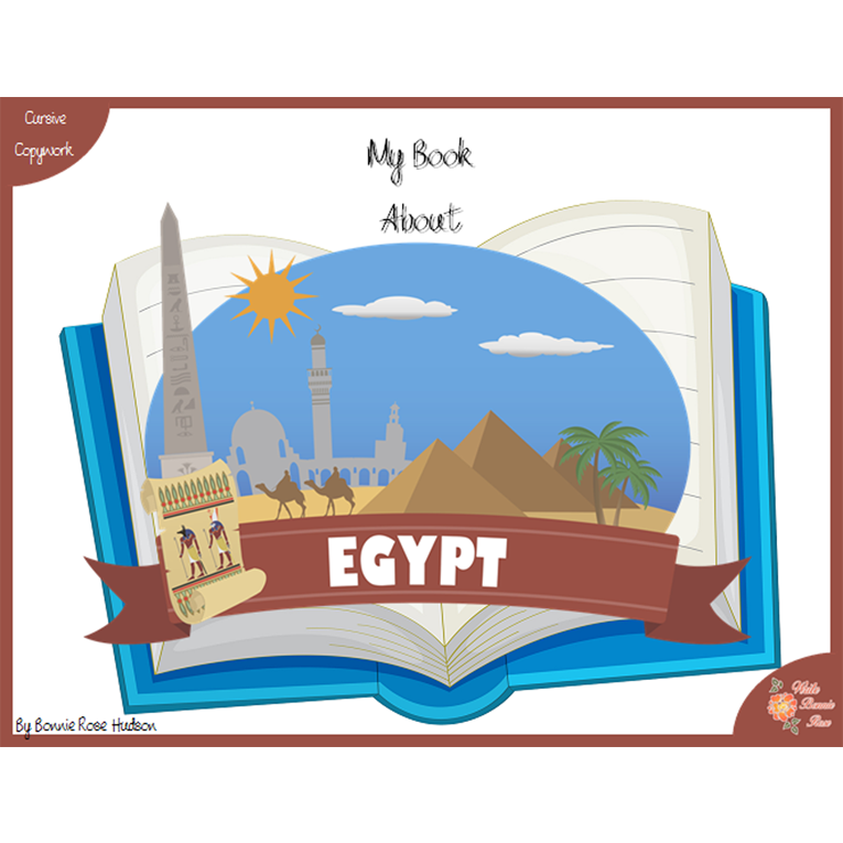 My Book About Egypt with Cursive Copywork (e-book)