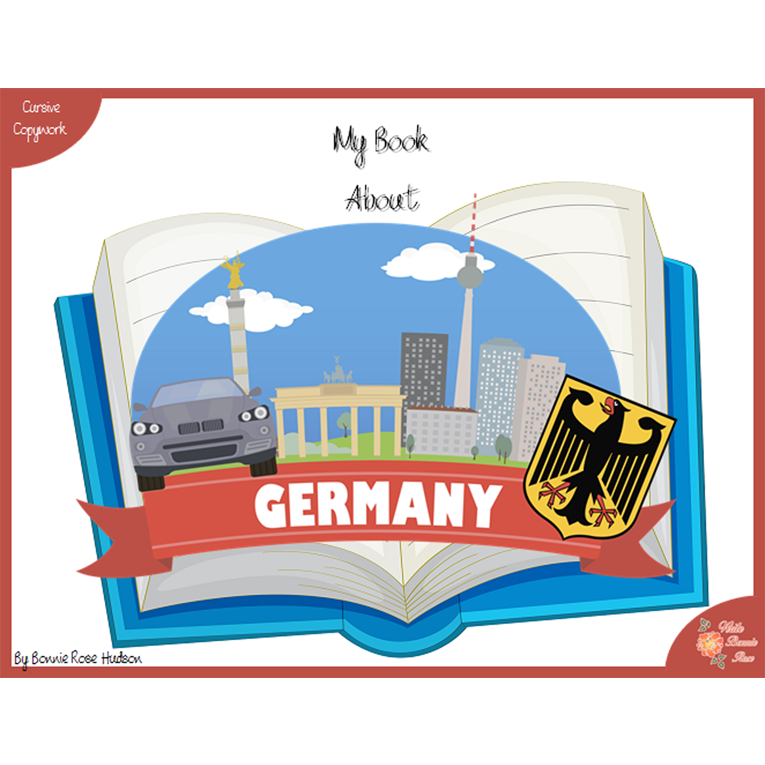 My Book About Germany with Cursive Copywork (e-book)