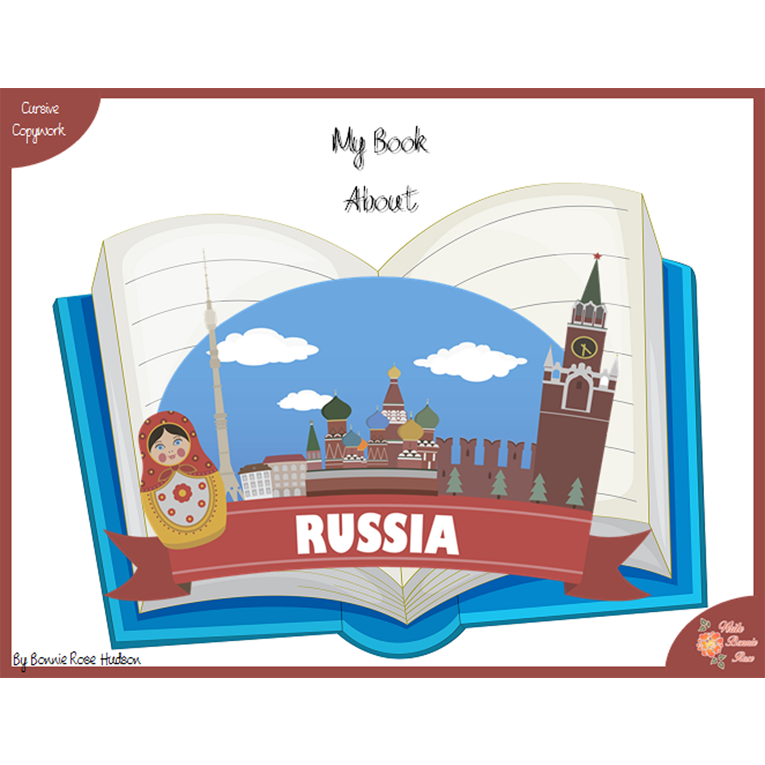 My Book About Russia with Cursive Copywork (e-book)