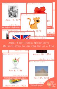 300 Free Timeline Worksheets