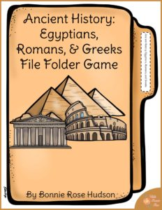 Ancient History: Egyptians, Romans, & Greeks File Folder Game