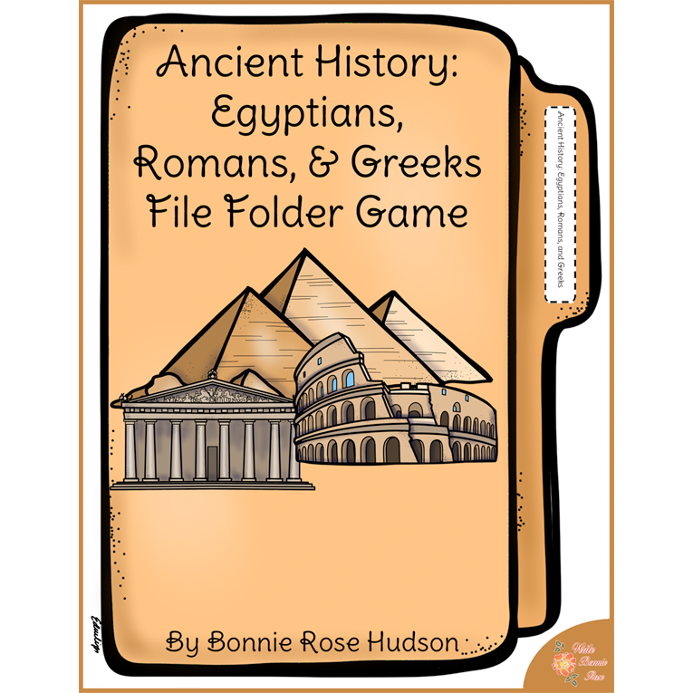 Ancient History: Egyptians, Romans, and Greeks File Folder Game (e-book)