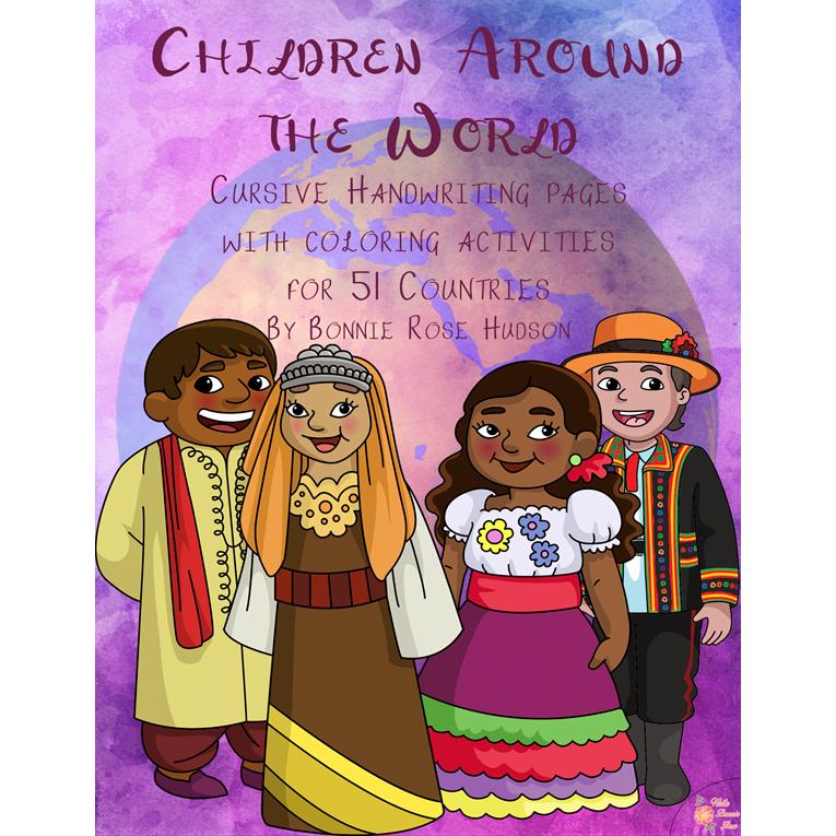 Children Around the World-Cursive (e-book)