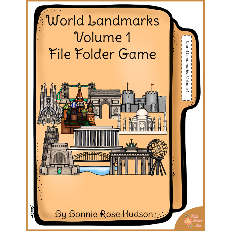 World Landmarks, Volume 1 File Folder Game (e-book)