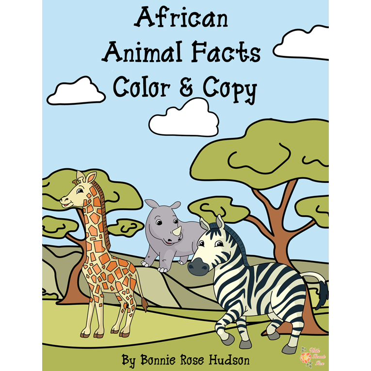 African Animal Facts Color & Copy (e-book)