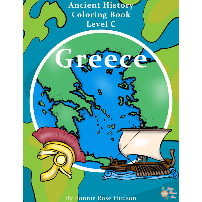 Ancient History Coloring Book: Greece-Level C (e-book)