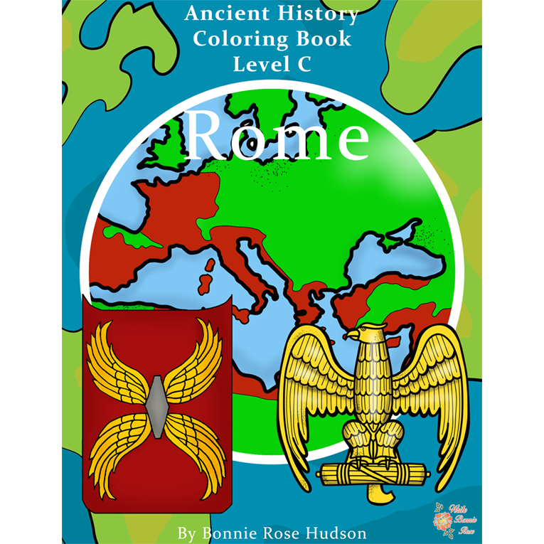 Ancient History Coloring Book: Rome-Level C (e-book)