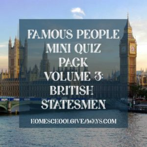FREE Famous People Mini Quiz Pack Volume 3 – British Statesmen