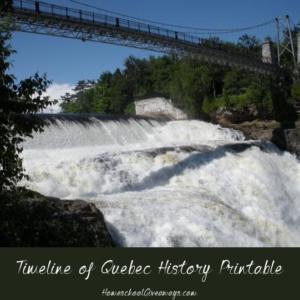 Timeline Worksheet: July 1, 1867, FREE Timeline of Quebec History