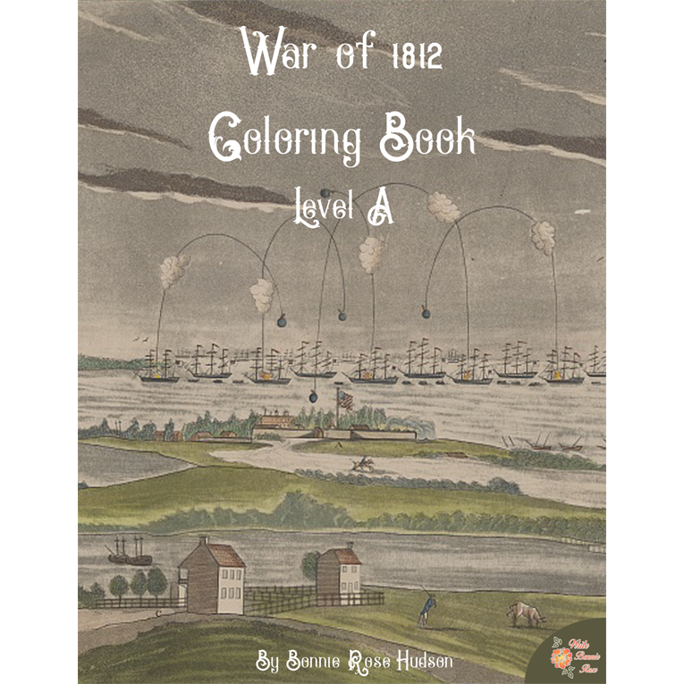 War of 1812 Coloring Book-Level A (e-book)