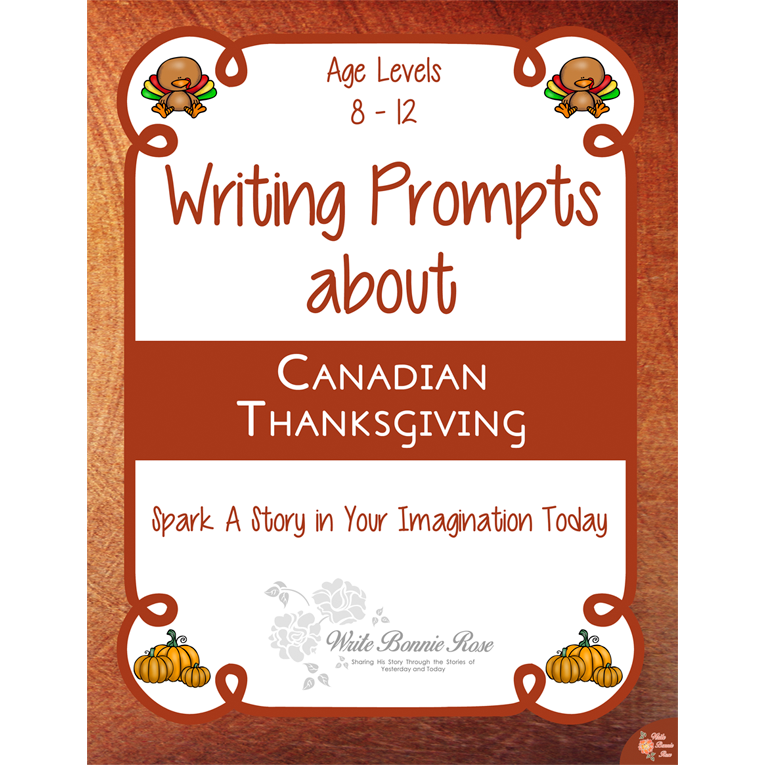 Writing Prompts About Canadian Thanksgiving (e-book)