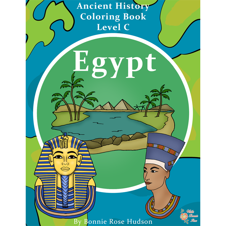 Ancient History Coloring Book: Egypt-Level C (e-book)