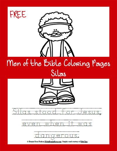 Free Men of the Bible Coloring Page-Silas