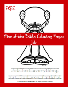 Free Men of the Bible Coloring Page-Job