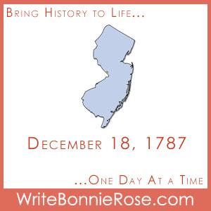 Timeline Worksheet: December 18, 1787, New Jersey Statehood