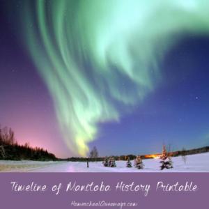 FREE Timeline of Manitoba History