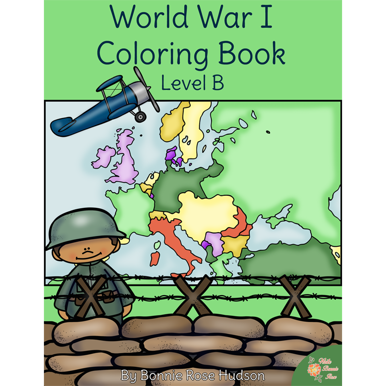 World War I Coloring Book-Level B (e-book)