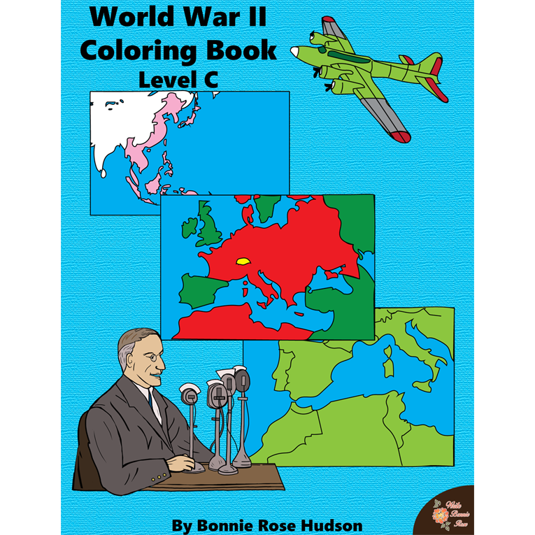 World War II: Coloring Book-Level C (e-book)