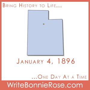 Timeline Worksheet: January 4, 1896, Utah Statehood