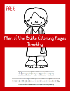 Free Men of the Bible Coloring Page-Timothy