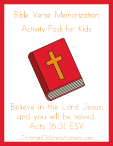 Bible Verse Activities for Kids-Acts 16:31