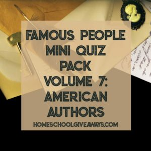 FREE Famous People Mini Quiz Pack Volume 7 – American Authors