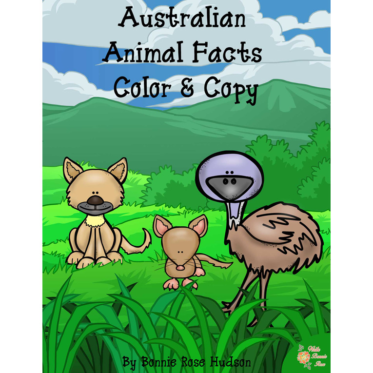 Australian Animal Facts Color And Copy E Book