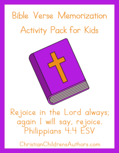 Bible Verse Activities for Kids-Philippians 4:4