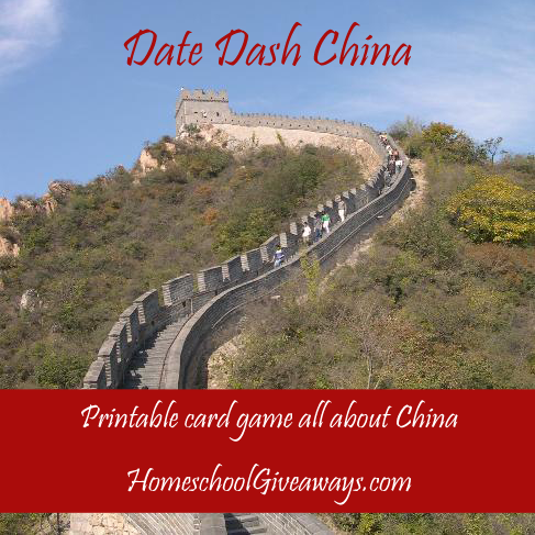 Date Dash China—Chinese History Card Game