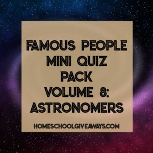 FREE Famous People Mini Quiz Pack Volume 8 – Astronomers