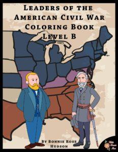 Leaders of the American Civil War Coloring Book-Level B