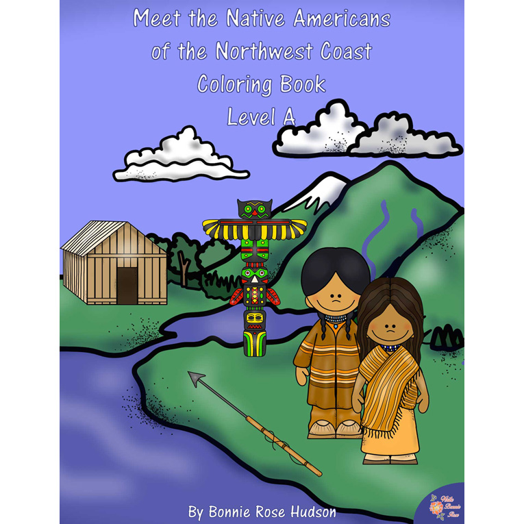 Meet the Native Americans of the Northwest Coast Coloring Book-Level A (e-book)