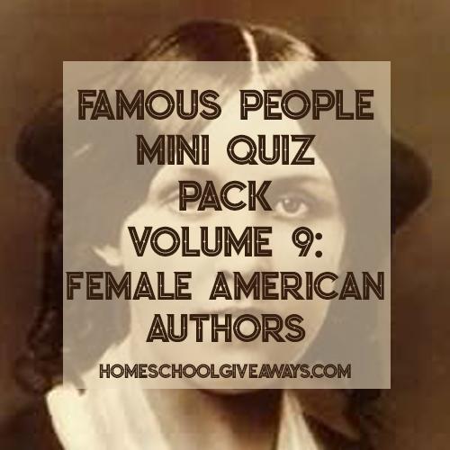 FREE Famous People Mini Quiz Pack Volume 9 – Female American Authors