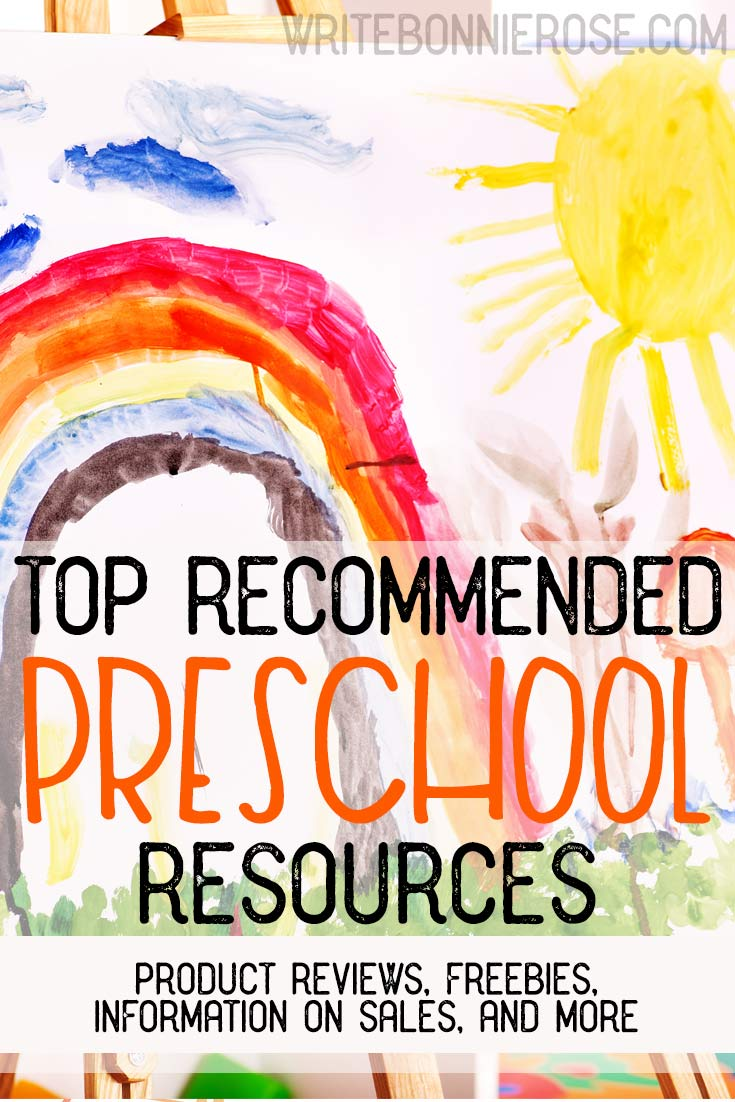 Recommended Preschool Resources and Freebies