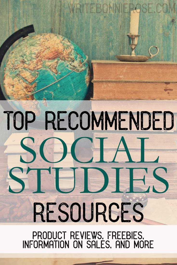 Recommended Social Studies Resources and Freebies
