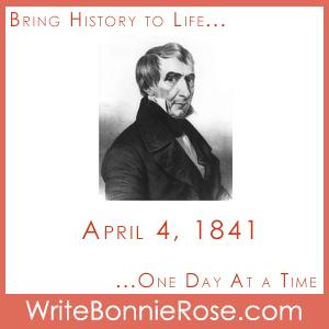 Timeline Worksheet: April 4, 1841, William Henry Harrison Dies