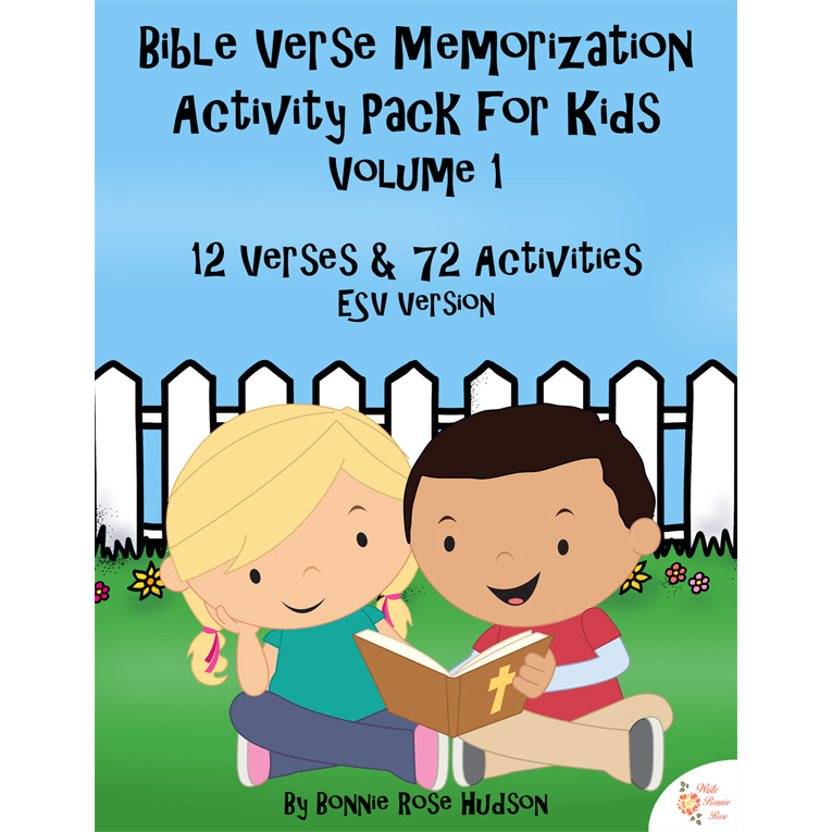 Bible Verse Memorization Activity Pack for Kids, Volume 1 (e-book)