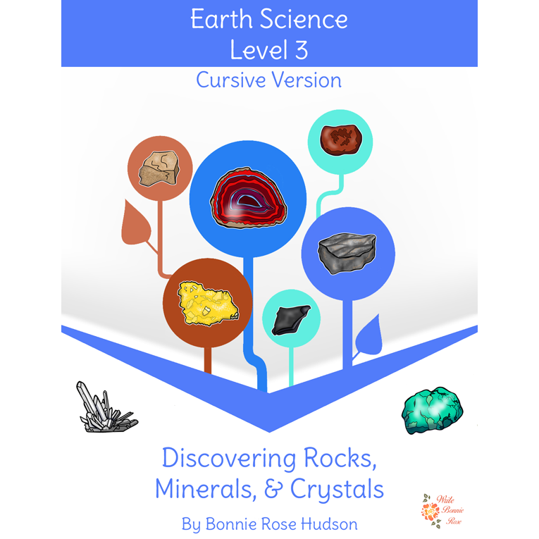 Discovering Rocks, Minerals, & Crystals-Learning About Science Level 3 Cursive Version (e-book)