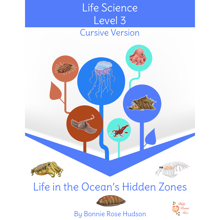 Life in the Ocean's Hidden Zones-Learning About Science Level 3 Cursive Version (e-book)