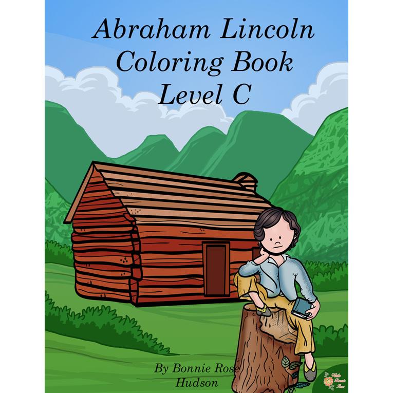 Abraham Lincoln Coloring Book-Level C (e-book)