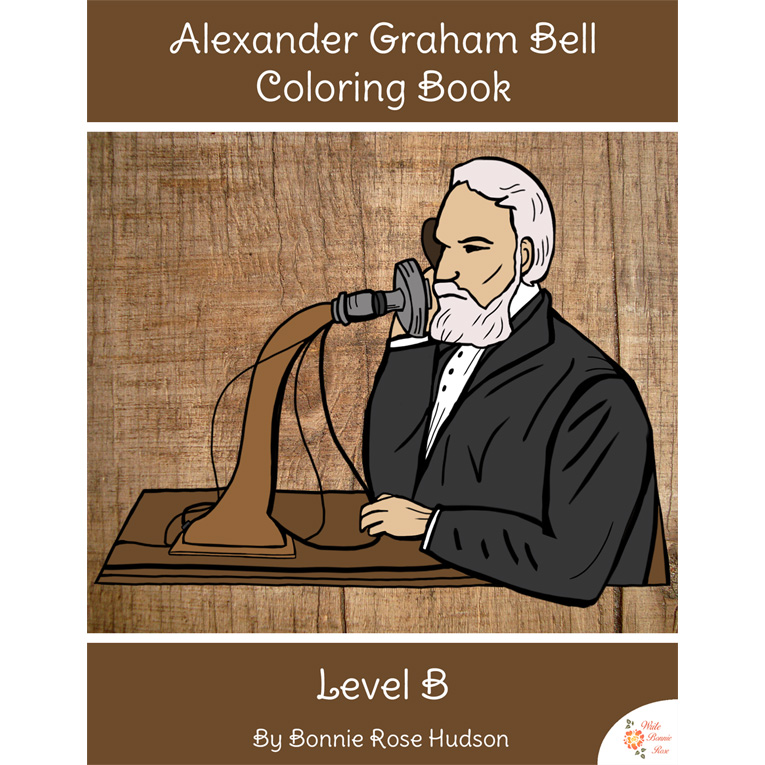 Alexander Graham Bell Coloring Book-Level B (e-book)