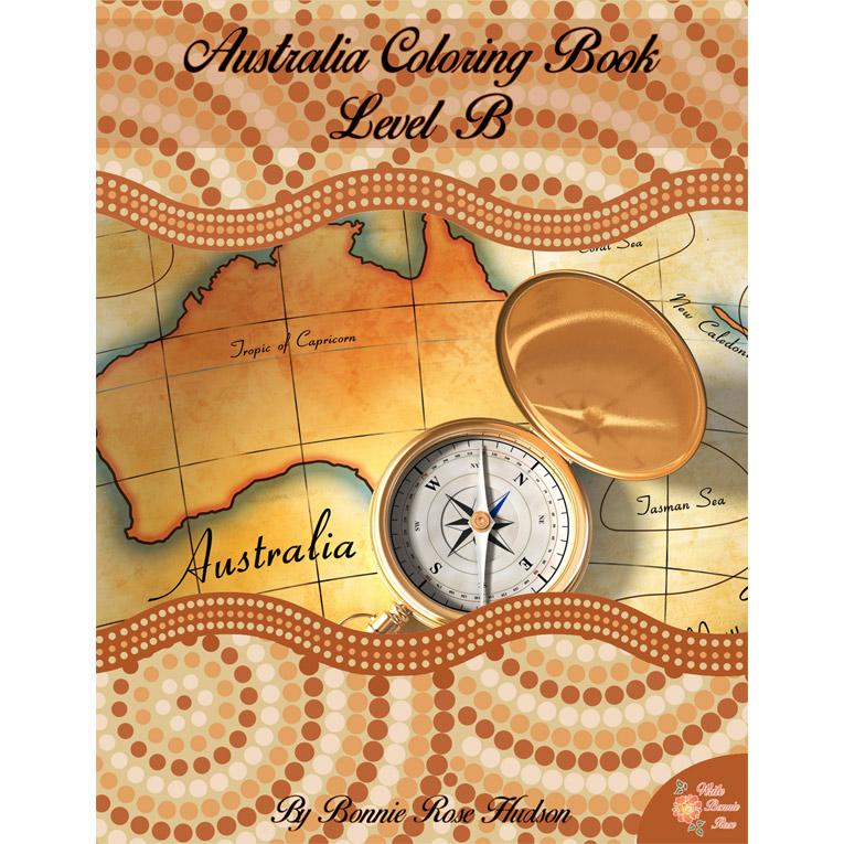 Australia Coloring Book-Level B (e-book)