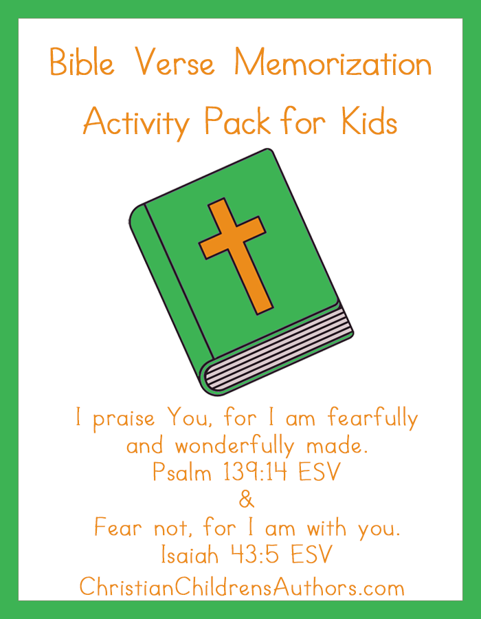 Bible Verse Activities for Kids-Psalm 139:14 and Isaiah 43:5