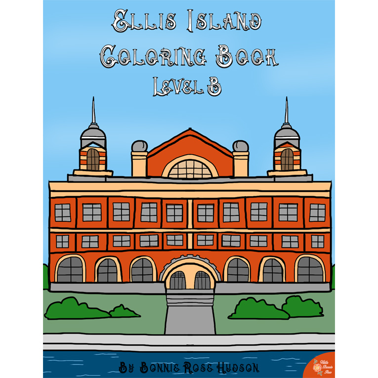Ellis Island Coloring Book-Level B (e-book)