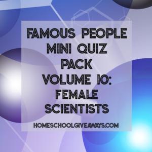 FREE Famous People Mini Quiz Pack Volume 10 – Female Scientists