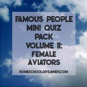 FREE Famous People Mini Quiz Pack Volume 11 – Female Aviators