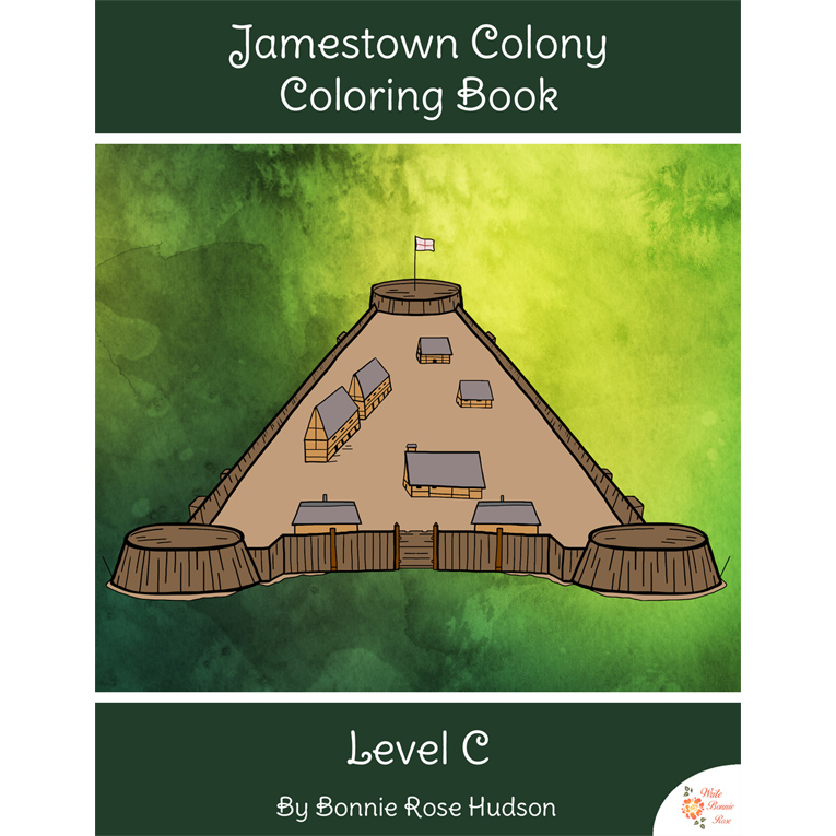 Jamestown Colony Coloring Book-Level C (e-book)