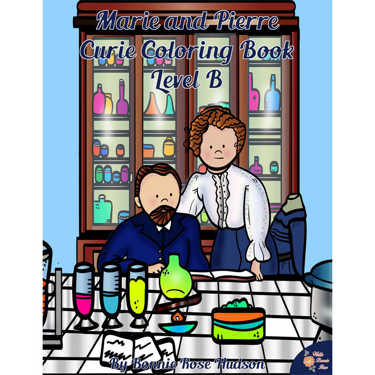 Marie and Pierre Curie Coloring Book Level B (e-book)